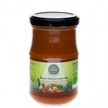 Sauce Tomate sans sel cuisinées à l'huile d'olive 200gr