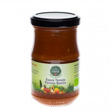 Tomates cuisinées au Poivron et au Basilic 200gr
